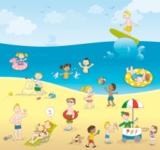 stock-illustration-9661375-summer-kids-playing-beach-5-millionth-approved-istock-file